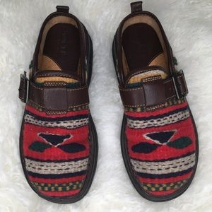 Born Wool and Leather Slide size 7